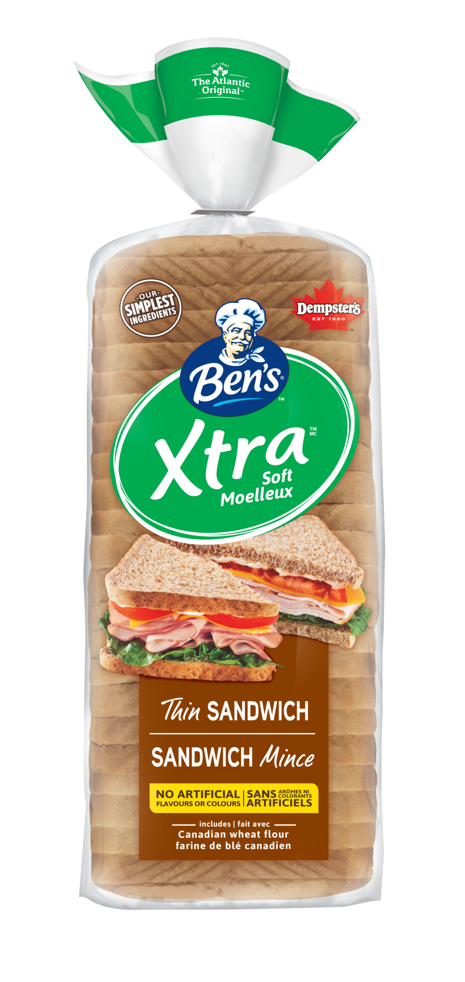 Ben's® Xtra Soft Thin Sliced 100% Whole Wheat Sandwich Bread